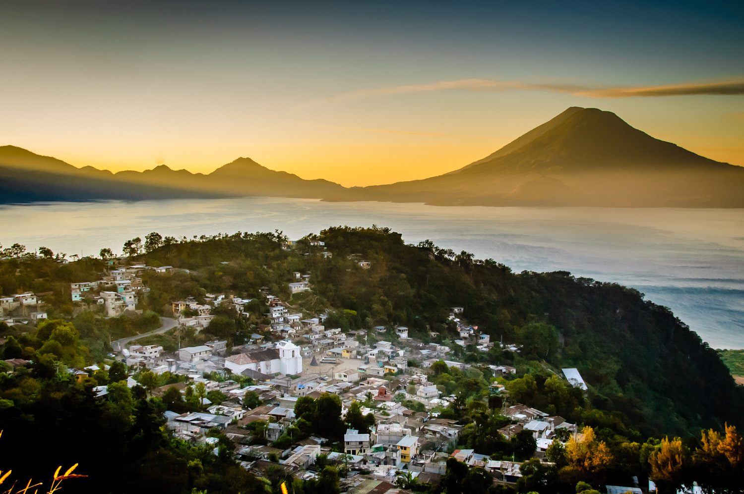 Sunrise over Lake Atitlán, Guatemala