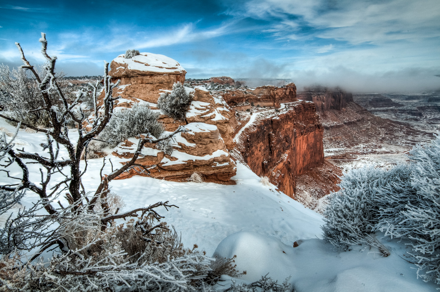 Winter in Canyonlands National Park, Utah