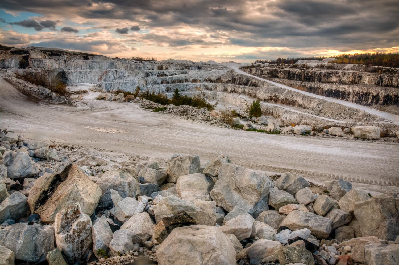 Tatlock Quarry, moody skies