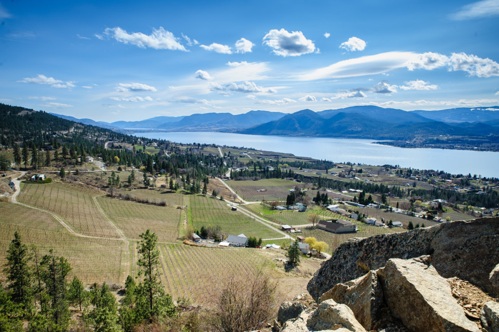 A hiking and biking trail now follows the former bed of the Kettle Valley Railway in the Okanagan Valley and beyond. The view of Okanagan Lake and the wine country around Naramata is spectacular from this portion of the trail. (Richard McGuire Photo)